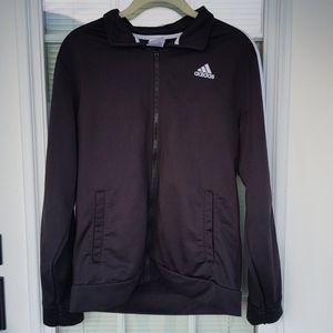 💛 Boys Adidas XL Black Zip Up Jacket